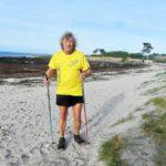 Goulven Elégoët est le parrain de l'édition un peu spéciale du Téléthon 2020. Ici sur la plage de Pors-ar-vilin-vras, située dans son périmètre de 1 km.